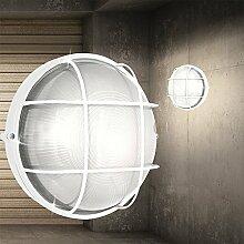 Decken Leuchte AUSSEN Ø240mm/ Weiß/ Alu/ Lampe Aussenlampe Aussenleuchte Deckenlampe Deckenleuchte