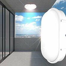 Decken Leuchte AUSSEN Ø270mm/ LED/ Weiß/ Alu/ Lampe Aussenlampe Aussenleuchte Deckenlampe Deckenleuchte