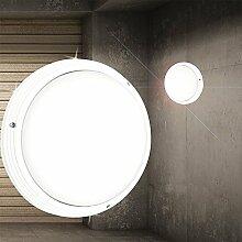 Decken Leuchte AUSSEN Ø270mm/ Weiß/ Alu/ Lampe Aussenlampe Aussenleuchte Deckenlampe Deckenleuchte