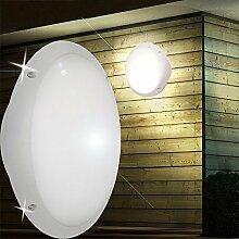 Decken Leuchte AUSSEN Ø330mm/ Silber/ Kunststoff/ Lampe Aussenlampe Aussenleuchte Deckenlampe Deckenleuchte