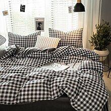 Decken mit 2 Kissen shams bed sheet koreanisch stil vier sets weichen bequeme dauerhafte haut-Freundlich -C Queen2