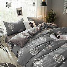 Decken mit 2 Kissen shams bed sheet koreanisch stil vier sets weichen bequeme dauerhafte haut-Freundlich -K Queen1