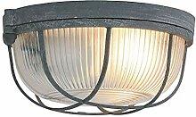 Decken Strahler Leuchte Glas beton-grau Wohn