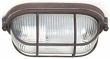 Decken Strahler Leuchte Glas rost-braun