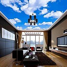 Decken-Tapete-Blauer Himmel Und Weiße