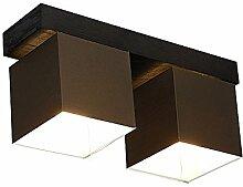 DeckenlampeFarbe: Braun - Für LED Birne und