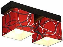DeckenlampeFarbe: Rot - Für LED Birne und Alte