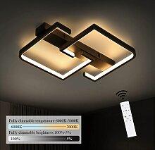 Deckenlampe LED 35W Schwarze Wohnzimmerlampe