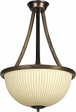 Deckenlampe rund Metall Braun Gold 3xE27 Ø38cm