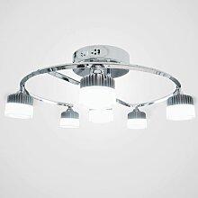 Deckenlampen LED Wohnzimmerlampe Gestell chromfarben Kaltweiß