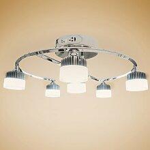 Deckenlampen LED Wohnzimmerlampe Gestell chromfarben Warmweiß