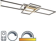 Deckenleuchte Anthrazit inkl. LED, Fernbedienung -