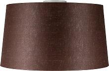Deckenleuchte Combi weiß mit Schirm 45 cm braun
