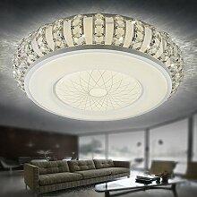 Deckenleuchte Fyios Crystal Deckenleuchte, Led - Kristall - Deckenleuchte, Wohnzimmer, Einfache Europäische Style Bedroom, Schmiedeeiserne Lampe,Weißes Lich