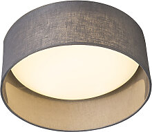 Deckenleuchte grau 28 cm inkl. LED - Drum Combi