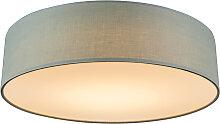 Deckenleuchte grün 40 cm inkl. LED - Drum