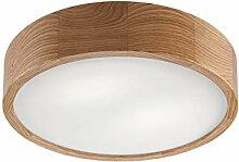 Deckenleuchte Holz Glas rund blendarm Modern E27