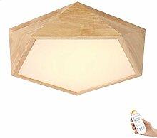 Deckenleuchte Holz Wohnzimmer Lampe Flach