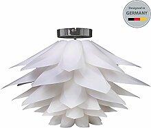 Deckenleuchte I Deko-Lampe I Schlafzimmer-Lampe I Decken-Leuchte I Puzzle-Lampe I moderne Wohnzimmer-Lampe I Weiß I Couchtisch-Lampe I Esstisch-Lampe I Decken-Lampe I Kinderzimmer-Leuchte I max. 60 W I 230 V I E27 I IP20