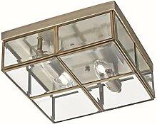 Deckenleuchte in Bronze Bauhaus Design 2xE14 bis