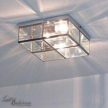 Deckenleuchte in Chrom Bauhaus Design 2xE14 bis zu