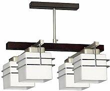 Deckenleuchte in Venge Weiß Bauhaus Stil 4x E27