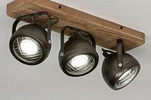 Deckenleuchte Industrielook Coole Lampen Grob Holz