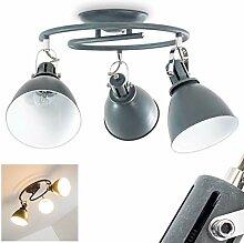 Deckenleuchte Koppom, runde Deckenlampe aus Metall