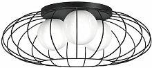 Deckenleuchte KRONOS BLACK schwarz aus Metall/Glas