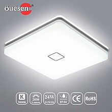Deckenleuchte LED 24W, LED Deckenlampe Bad,