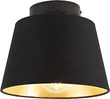 Deckenleuchte mit Schirm schwarz/gold 20 cm -