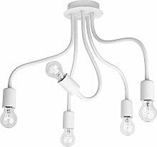Deckenleuchte modern weiß 5-flammig E27 Lampe