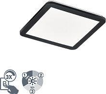Deckenleuchte quadratisch schwarz 30 cm inkl. LED