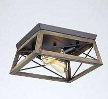 Deckenleuchte Retro Holz Decke Lampe Vintage Flur