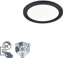 Deckenleuchte rund schwarz 26 cm inkl. LED