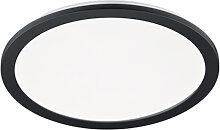 Deckenleuchte rund schwarz 40 cm inkl. LED