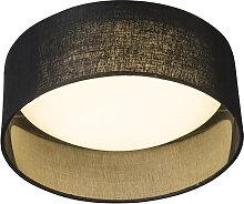 Deckenleuchte schwarz 28 cm inkl. LED - Drum Combi