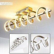 Deckenleuchte spiralförmig – Moderne Designer-Lampe mit LED-Lichtleisten – Metall-Leuchte für die Wohnzimmer-Decke in einem gemütlichen, warmweißen Licht – Aufregende Wohnraumlampe mit Spezialeffek