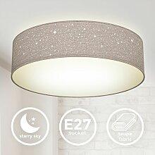 Deckenleuchte Sterndekor Stoff-Lampe Textil