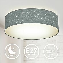 Deckenleuchte Stoff Sternen-Licht Textil Lampe