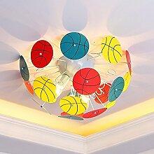 Deckenleuchte - Warme Mädchen und Jungen Kreativen Kinder mit runden Cartoon Schmiedeeiserne Deckenleuchte Kindergarten Schlafzimmer Deckenleuchten --Home Warme Decke lampe