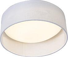 Deckenleuchte weiß 28 cm inkl. LED - Drum Combi