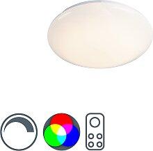 Deckenleuchte weiß inkl. RGB LED mit