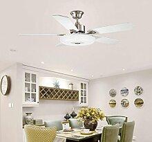 Deckenleuchte YYF Deckenventilator beleuchtet Restaurant einfache moderne Ventilator-Leuchter-Wohnzimmer-Ausgangsled-Beleuchtungs-Schlafzimmer-elektrische Ventilator-Lampe