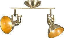 Deckenstrahler gold / messing schwenkbar und