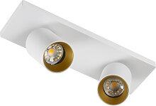Deckenstrahler Mila 2 Weiß / Gold