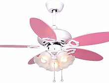 Deckenventilator Licht, Kindergebläse Licht Rosa