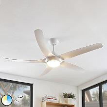 Deckenventilator weiß inkl. LED und Fernbedienung