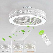 Deckenventilator Weiß Lampe LED Dimmer Fan