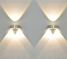 Deckey 3W LED Up and Down Warmweiß Design